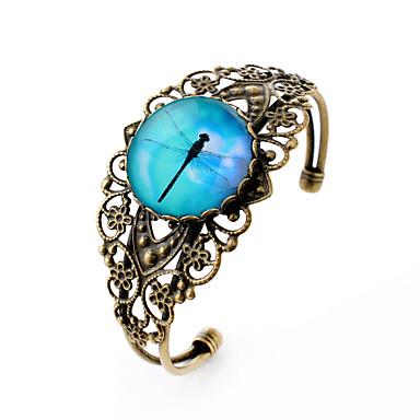 Vedhend Armband Armringer Enkel Stil Skåret Syntetiske Edelstener Sølvplett Glass Legering Blomsterformet Smykker Til Fest Daglig