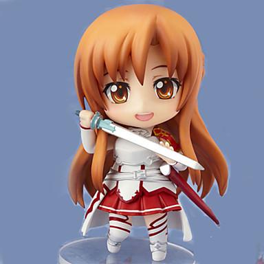Anime Akciófigurák Ihlette Kardművészet Online Asuna Yuuki PVC 9.5 CM Modell játékok Doll Toy