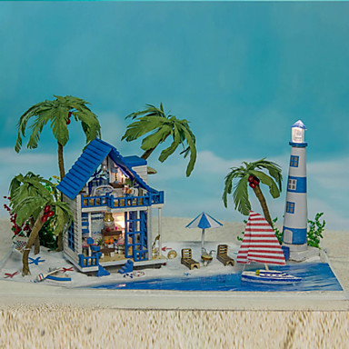 מדריך עשה זאת בעצמך להרכבת מנורת giftlights יום הולדת יצירתי ילדת צעצוע מודל בניין זכוכית הצריף הוביל