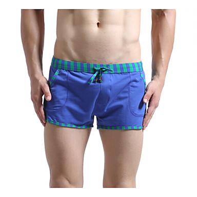 בגדי ריקוד גברים ריצה מכנסיים מכנסיים קצרים תחתיות ייבוש מהיר חדירות גבוהה לאוויר (מעל 15,000 גרם) נושם תומך זיעהכושר גופני ספורט פנאי