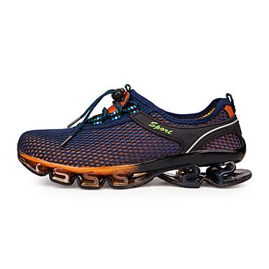 Herre sko Mikrofiber Tyll Vår Sommer Høst Vinter Ankelrem Komfort Løp Kombinasjon Snøring til Atletisk Avslappet utendørs Lilla Blå