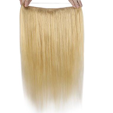 europäisches Haar hochwertiges Klasse 8a Menschenhaarverlängerung Echt Remy Haar Flip in Haarverlängerungen reines gerades Haar