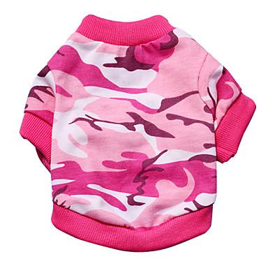 Katze Hund T-shirt Hundekleidung Modisch camuflaje Grün Rosa Kostüm Für Haustiere