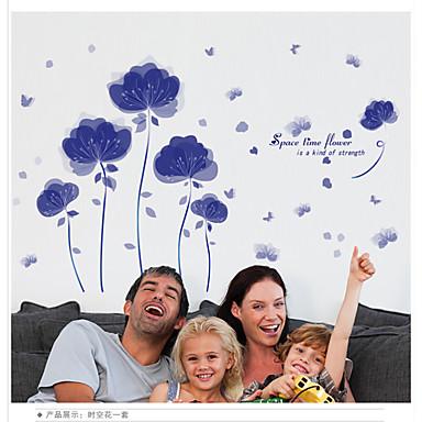 Kasvitieteellinen / Romantiikka / Muoti / Maisema / 3D Wall Tarrat Lentokone-seinätarrat,pvc 90*60CM