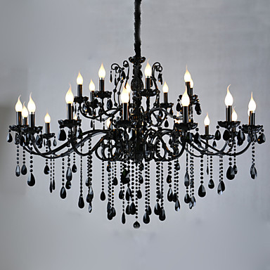 LWD Candle-style Chandelier Ambient Light - Crystal, 110-120V / 220-240V Bulb Not Included / 40-50㎡ / E12 / E14