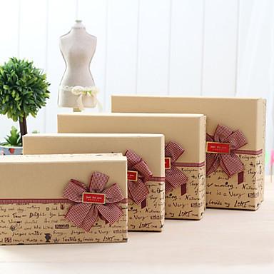 4 יחידה / סט מחזיק לטובת-דמוי קוביה נייר כרטיסים קופסאות מתנה ללא התאמה אישית