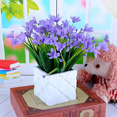 1 haara Polyesteri Orkideat Pöytäkukka Keinotekoinen Flowers