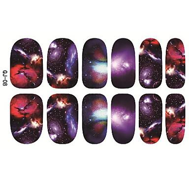 1pc Japan Harajuku den Sternenhimmel die Rückseite kleben Nägel Aufkleber 12 Post in Scheiben schneiden