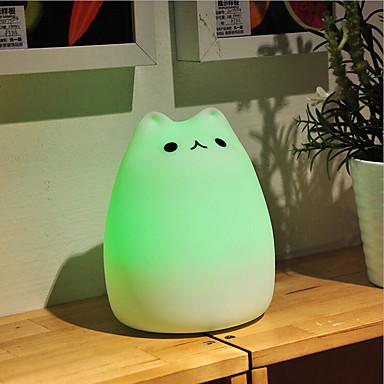 usb silikon av kjæledyr farge skiftende smart lys krise førte natt lys for kids room hjem dekorasjon