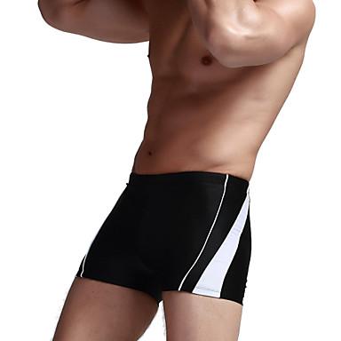 בגדי ריקוד גברים נושם תומך זיעה דחיסה Tactel חליפת צלילה בגדי ים מכנסיים תחתיות - שחייה ספורט פנאי אחיד