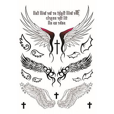 Tegneserie / Tattoo-klistremerke midlertidige Tatoveringer Totem Serier / Dyre Serier / Blomster Serier Ansikt / Krop / hender 2 pcs
