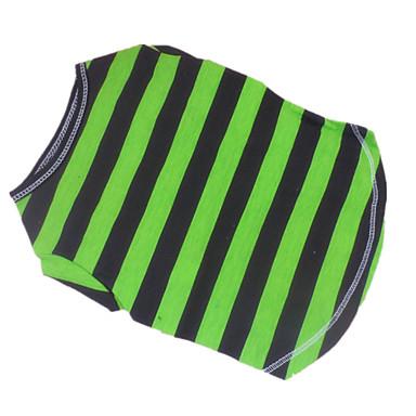 Dog Shirt / T-Shirt Dog Clothes Stripe Blue/Green Cotton Costume For Pets