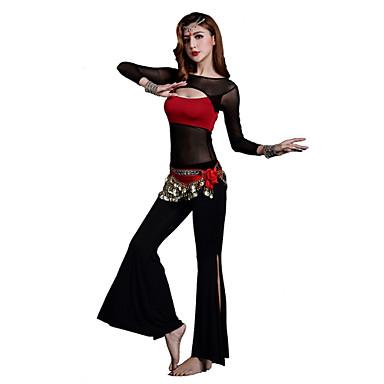 밸리 댄스 의상 여성용 훈련 모달 십자 2 개 긴 소매 내츄럴 바지 / 위 S:45cm/M:46cm/L:47cm