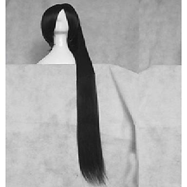 Femme Perruque Synthétique Raide Noir Perrruque de Déguisement Perruque Déguisement