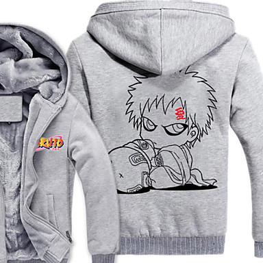 Inspiriert von Naruto Naruto Uzumaki Anime Cosplay Kostüme Cosplay Hoodies Druck Langarm Top Für Herrn