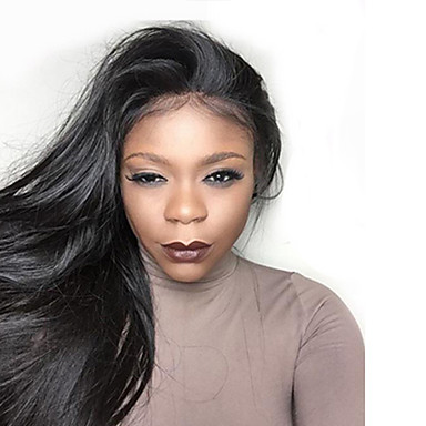 New Style High Ponytail Full Lace Wigs Silky Straight Virgin Human