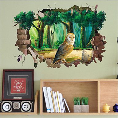 Tiere / Cartoon Design Wand-Sticker 3D Wand Sticker,PVC 50X70X0.1