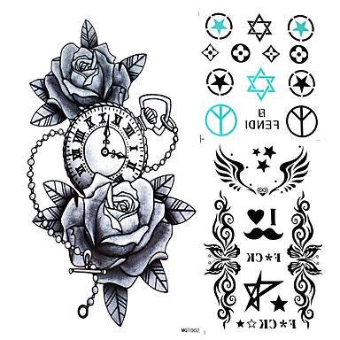 Naklejki z tatuażem Seria kwiatowa Non Toxic Waterproof Damskie Męskie Dorosły Dla nastolatków Tattoo Flash Tatuaże tymczasowe