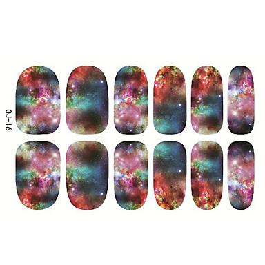 1 Neglekunst Klistermærke Hel Negle Tipper Negle Smykker Tegneserie Abstrakt Makeup Kosmetik Neglekunst Design