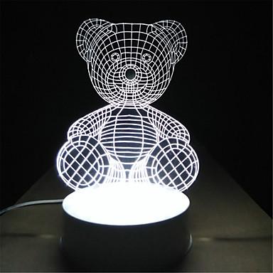 kreative Neuheit 3D-Hochzeitsgeschenke Kinder Nachtgeburtstagsgeschenk Kinder Raum Studie Schlafzimmerlampe Stereo