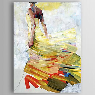 מצויר ביד אנשים אנכי, מודרני בַּד ציור שמן צבוע-Hang קישוט הבית פנל אחד