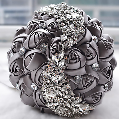 Wedding Flowers Bouquets Wedding Bead Lace Silk Organza Satin 7.09