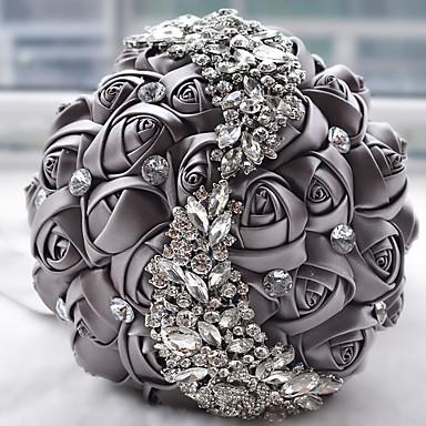 Esküvői virágok Csokrok Esküvő Gyöngy Csipke Selyem Organza Szatén 7,09