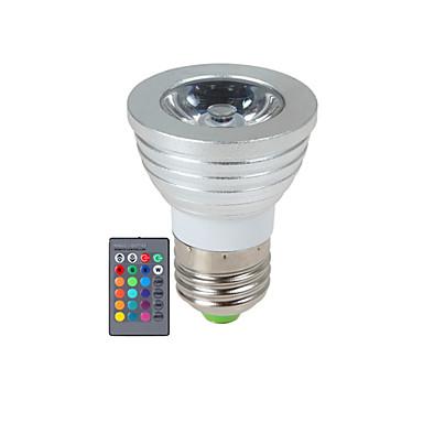 YWXLIGHT® 270 lm E14 GU10 E26/E27 LED Σποτάκια 1 leds LED Υψηλης Ισχύος Με ροοστάτη Τηλεχειριζόμενο RGB AC 85-265V