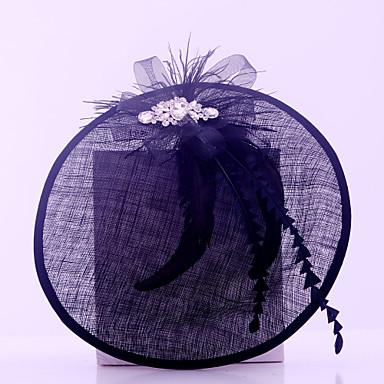 נשים נוצה ריינסטון פשתן כיסוי ראש-חתונה אירוע מיוחד קז'ואל חוץ קישוטי שיער חלק 1
