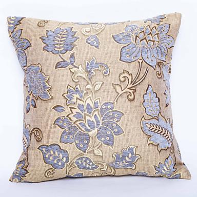 1 Stück Chenille Polyester Kissenbezug, Blumen Traditionell
