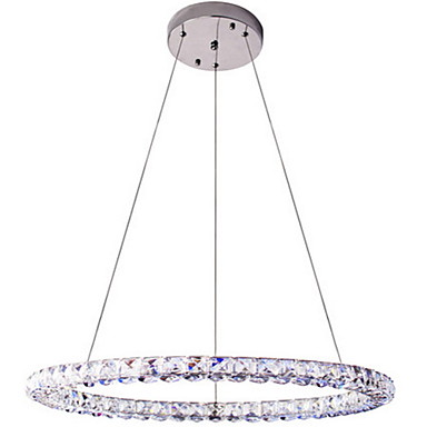 Circular Chandelier Downlight - Crystal, LED, 90-240V, Warm White / Cold White, Bulb Included / 15-20㎡ / LED Integrated / 4-pin