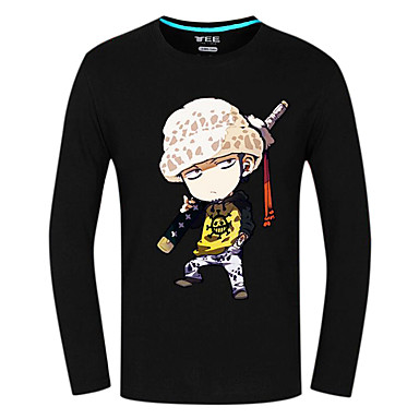 Inspirado por One Piece Trafalgar Law Anime Fantasias de Cosplay Tops Cosplay / Bottoms Estampado Manga Longa Blusa Para Unisexo