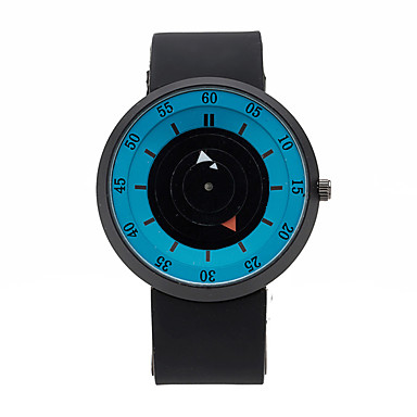 Herre Armbåndsur Unike kreative Watch Quartz Silikon Band Kreativ Svart
