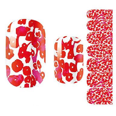 1 pcs 3D Nagel Sticker Blume / Zeichentrick / Modisch lieblich Alltag