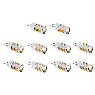 1.5W G4 LED Mais-Birnen T 10 Leds SMD 5730 Warmes Weiß Kühles Weiß 130-150lm 3500/6000K DC 12V