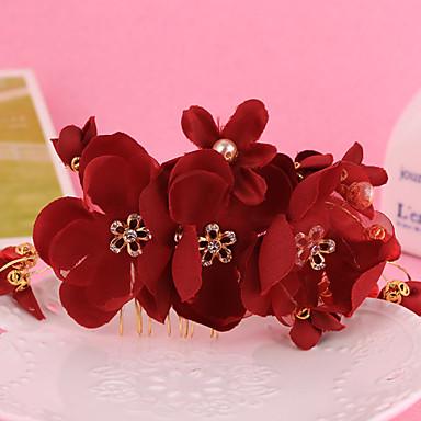 Damen Mädchen Stoff Aleación Kopfschmuck-Hochzeit Besondere Anlässe Haarkämme Blumen 1 Stück