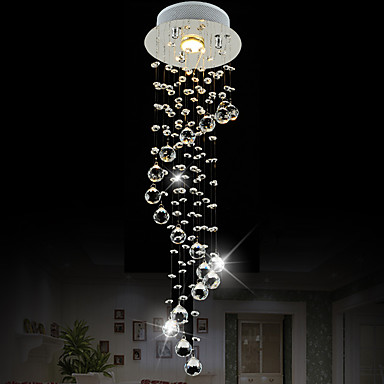 LightMyself™ Krystal Vedhæng Lys Ned Lys - Krystal, Ministil, 110-120V / 220-240V Pære Inkluderet / GU10 / 5-10㎡