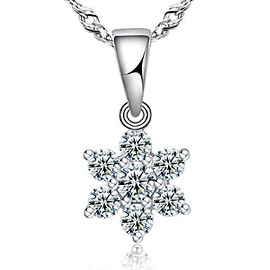 Damen Anhängerketten Sterling Silber Geburtssteine Schmuck Für Alltag Normal