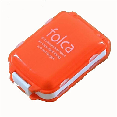 Mini Portable Folding with Three Separate Sections of Eight Grid Medicine Pill Box Storage Container