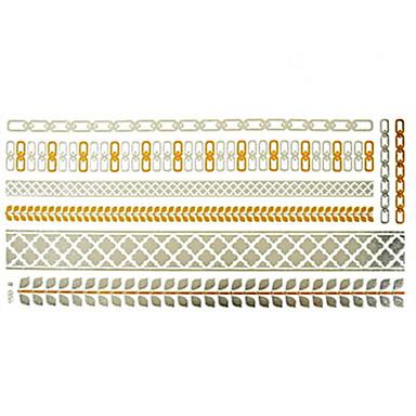 Tatoeagestickers - Patroon - Sieraden Series - voor Dames/Girl/Volwassene/Tiener - Goud - Papier - #(1) - stuks #(23x15.5)