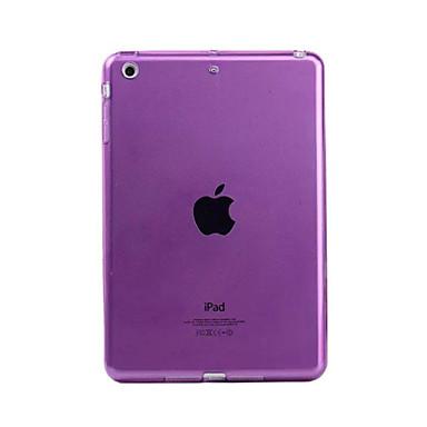 Capinha Para Apple iPad Mini 4 iPad Mini 3/2/1 Transparente Capa traseira Côr Sólida Macia TPU para iPad Mini 4 iPad Mini 3/2/1 Apple