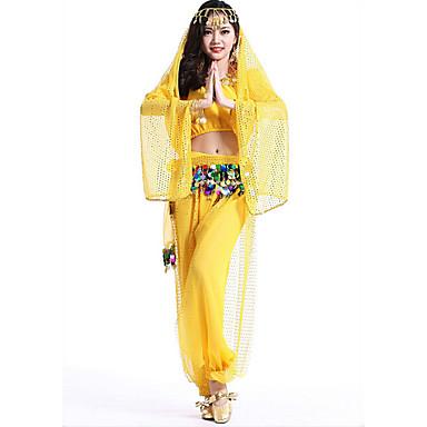 sopiiko vatsatanssi puku naisten suorituskyky sifonki alkuun housut huivi