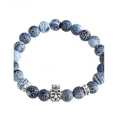 Herrn Damen Strang-Armbänder Personalisiert Perlenbesetzt Krystall Kreisform Schmuck Weihnachts Geschenke Alltag Normal Modeschmuck