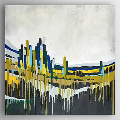 Kézzel festett Absztrakt / Absztrakt tájképModern Egy elem Vászon Hang festett olajfestmény For lakberendezési