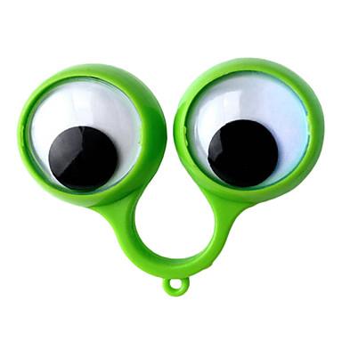 מחזיק מפתחות עיניים חמוד אופנתי מחזיק מפתחות ירוק פלסטיק