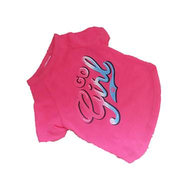 강아지 티셔츠 강아지 의류 통기성 패션 문자와 숫자 핑크 코스츔 애완 동물