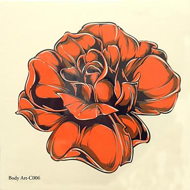 1kpl halloween tatuointi tahna väri tatuointi tarroja isompana vedenpitävä kukkia