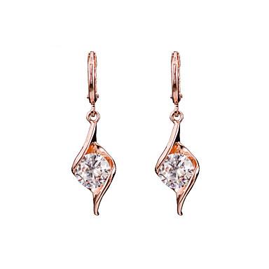 Ohrring Kubikzirkonia Tropfen-Ohrringe Schmuck Damen Geburtssteine Hochzeit / Party / Alltag Kubikzirkonia 1 Paar Goldfarben
