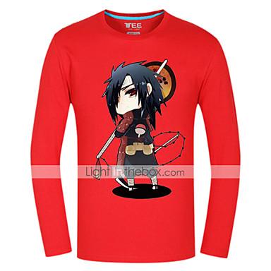Inspiriert von Naruto Sasuke Uchiha Anime Cosplay Kostüme Cosplay Tops / Bottoms Druck Langarm Top Für Herrn