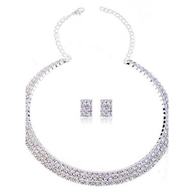 Damen Perle Schmuck-Set - Strass, Diamantimitate Modisch Einschließen Halskette / Ohrringe Weiß Für Hochzeit Party Besondere Anlässe / Halsketten